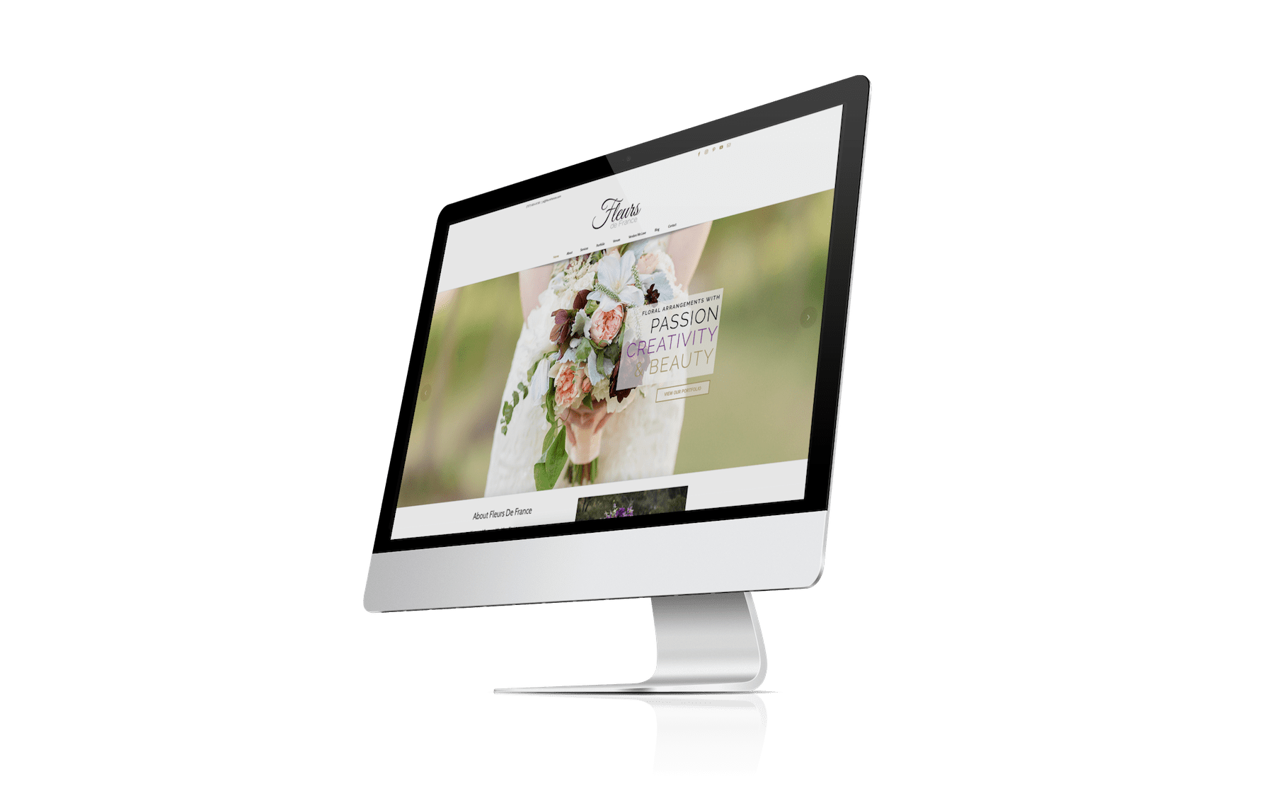 Fleurs de France Website Redesign